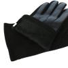 Стильные мужские трикотажные перчатки с кожей PU утепленные 0