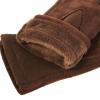 Трикотажные перчатки утепленные с имитацией замши 0