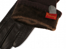 Длинные перчатки кашемир с натуральной кожей 0