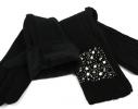 Трикотажные длиные перчатки + митенкина евромеху (серые) 0