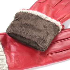 Перчатки натуральная кожа с трикотажным манжетом 0