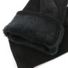 Перчатки комбинированные (имитация замши с трикотажем) 0