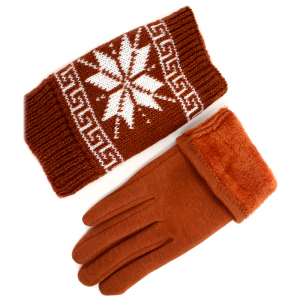 Перчатки с митенками трикотаж 0