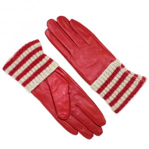 Перчатки натуральная кожа с трикотажным манжетом 2