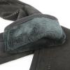 Длинные перчатки комбинированные (трикотаж+натуральная замша) 0