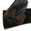Перчатки комбинированные (кожа натуральная + замша натуральная)утепленные 0