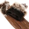 Женские перчатки их натуральной кожи с мехом Кролика 0