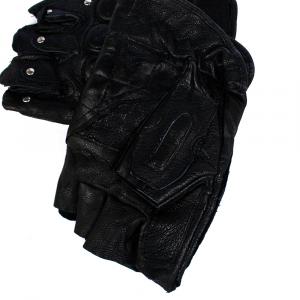 Мужские полуперчатки кожа натуральная SPORT c защитой 0