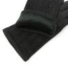 Велюровые перчатки со стразами на искусственном меху 0
