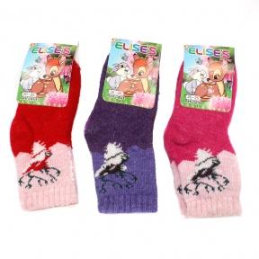 Тёплые носочки с кроличьим пухом для девочек