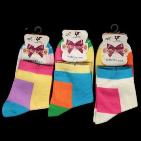 Яркие хлопковые носки женские