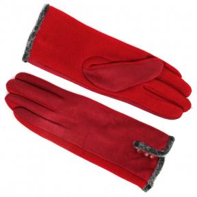 Перчатки трикотажные с искусственной замшей