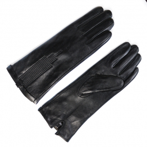 Удлиненные перчатки из натуральной кожи