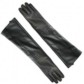 Длинные перчатки кожа PU