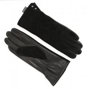 Перчатки женские (натуральная замша+ кожа) на евромеху