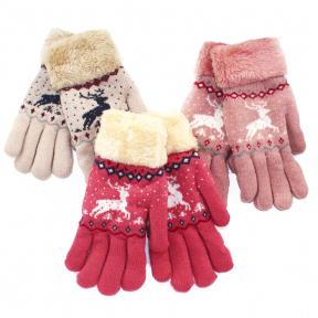 Перчатки двойные на искусственном меху