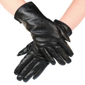 Перчатки гладкие их натуральной кожи