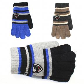 Перчатки для мальчика с шерстью 8-12 лет