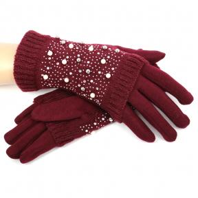 Перчатки + стразовые митенки