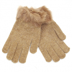 Перчатки шерсть с мехом кролика