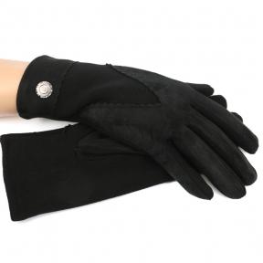 Перчатки комбинированные (имитация замши с трикотажем)