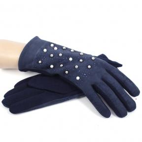Комбинированные перчатки под замшу с декором