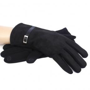 Перчатки женские touch-screen c начесом с имитацией замши