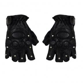 Мужские полуперчатки кожа натуральная SPORT c защитой