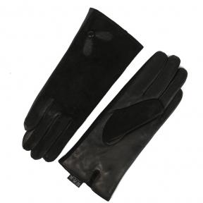 Перчатки комбинированные (кожа натуральная + замша натуральная)утепленные