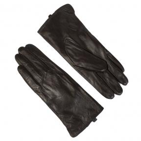 Перчатки гладкие их натуральной кожи на евромеху