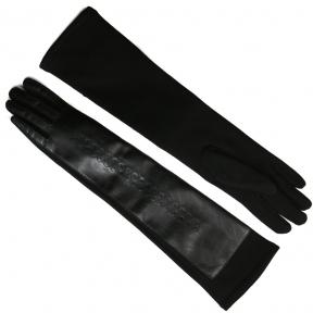 Длинные перчатки комбинированные