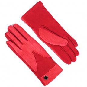 Трикотажные перчатки утепленные с имитацией замши