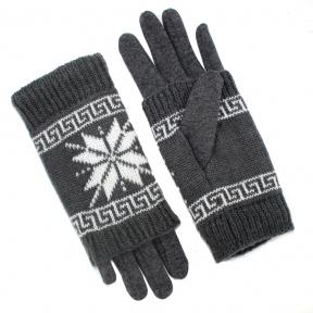 Перчатки с митенками трикотаж