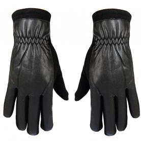 Трикотажные перчатки с кожей PU
