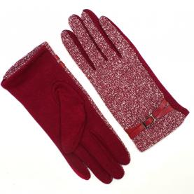 Женские перчатки шерсть с начесом утепленные
