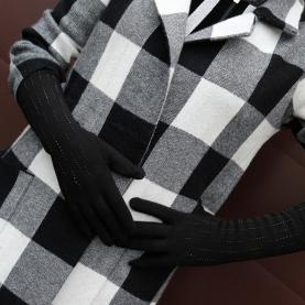 Перчатки удлиненные утепленные на евромеху