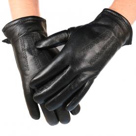 Кожаные перчатки утепленные
